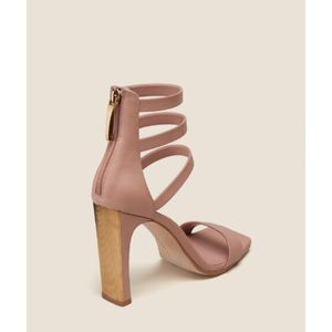 Donna Karan DKNY Nude Strappy Leather Heels